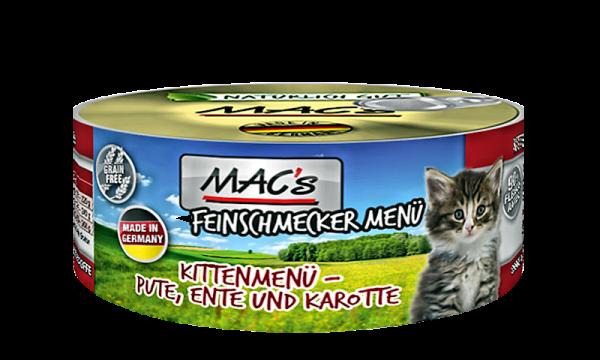 MAC's (Kitten) Pute, Ente & Karotten als Aktion: 100g + 80g gratis