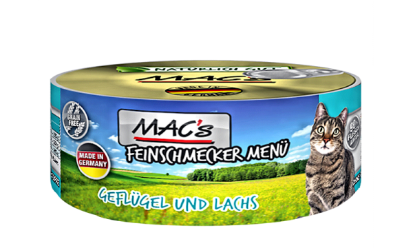 MAC's Geflügel & Lachs als Aktion: 100g + 80g gratis